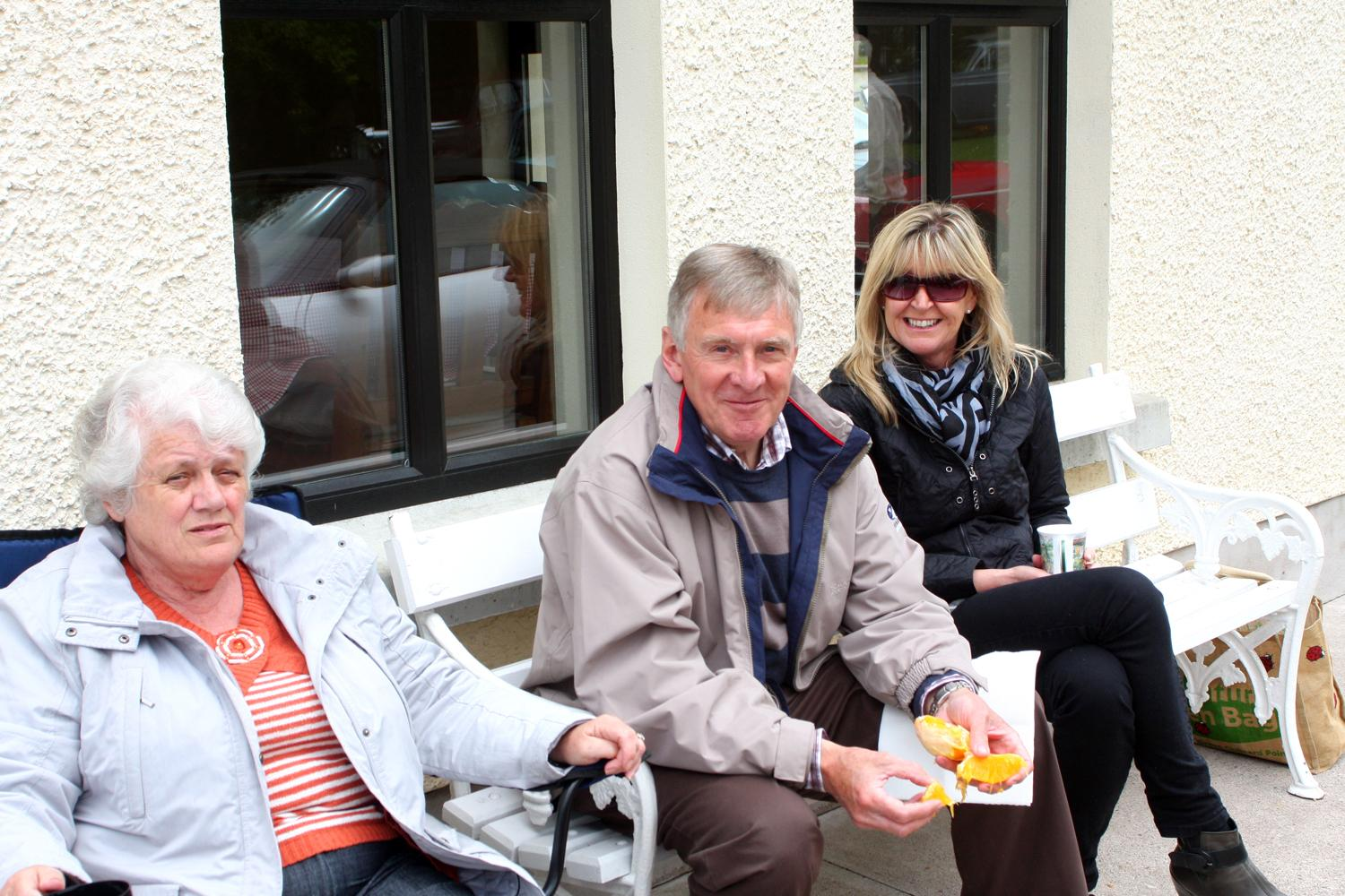 Members enjoying a snack during the Omagh Run pf 3